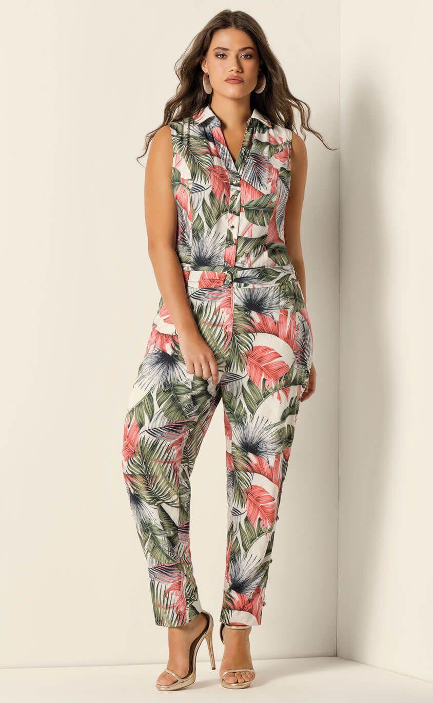Macacão Plus Size Primula