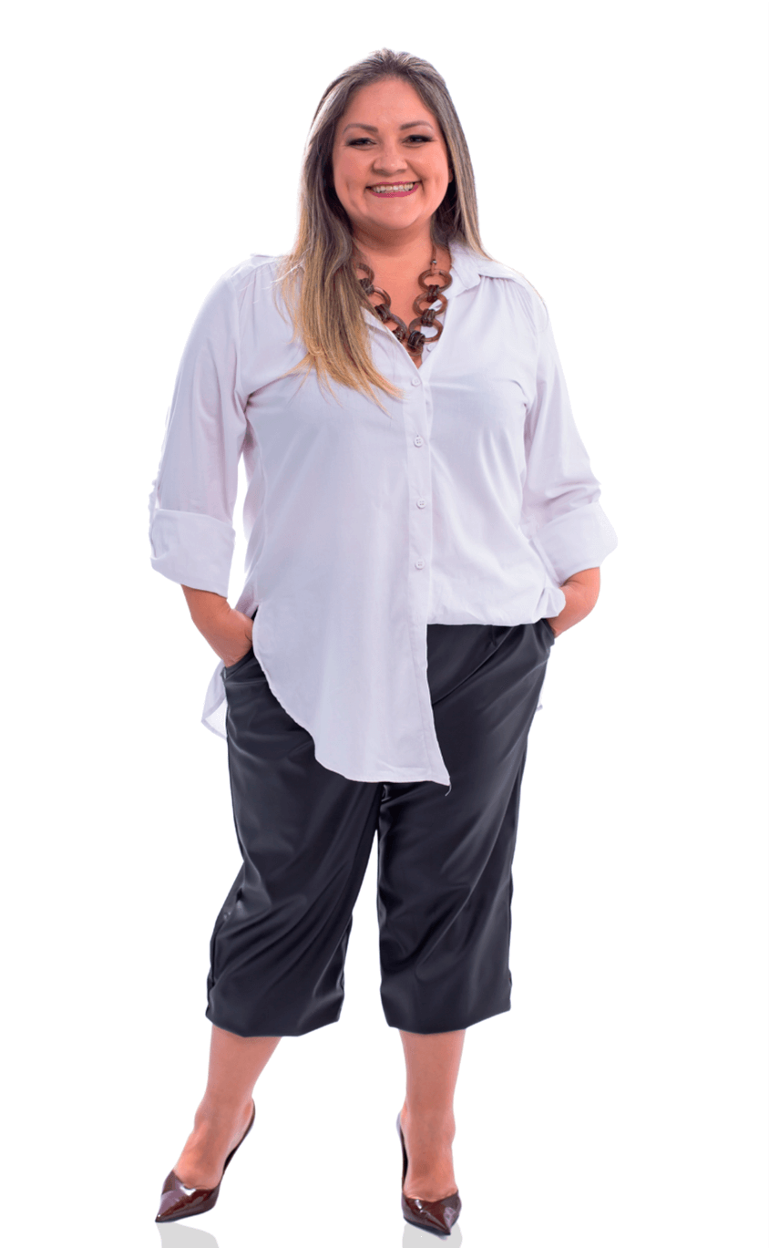 Maxi Camisa Plus Size Clear