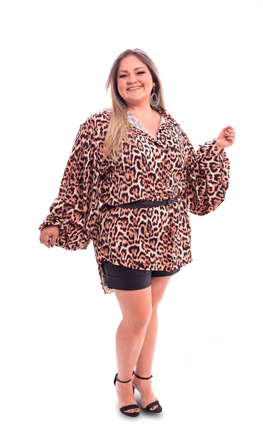 Maxi Camisa Plus Size Tigris