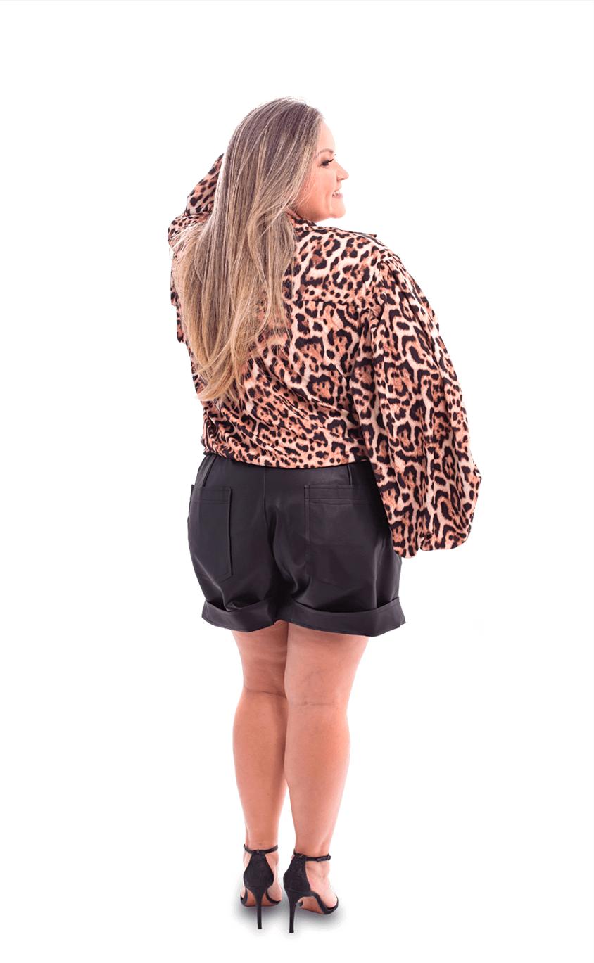 Shorts Plus Size de Leder