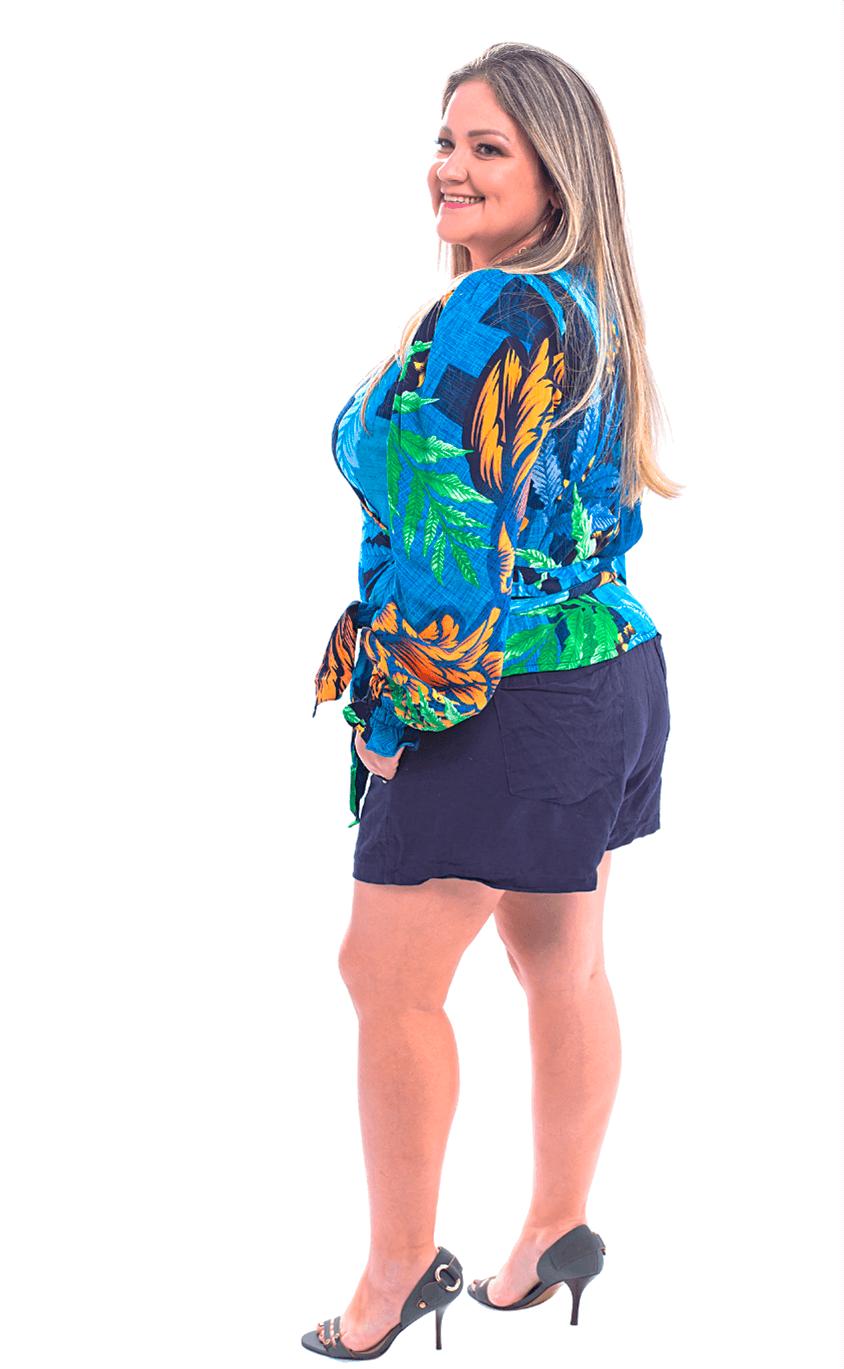 Shorts Plus Size Flax