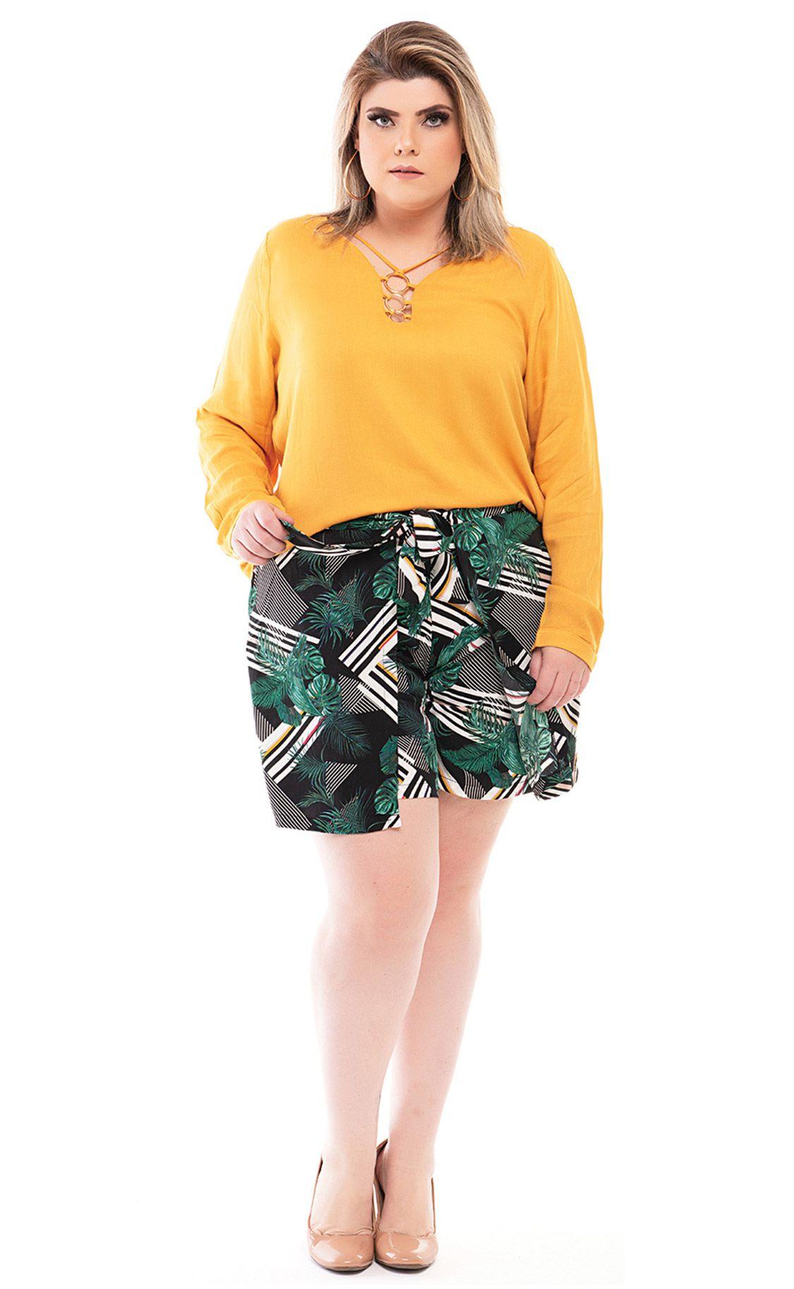 Shorts Plus Size Forêt