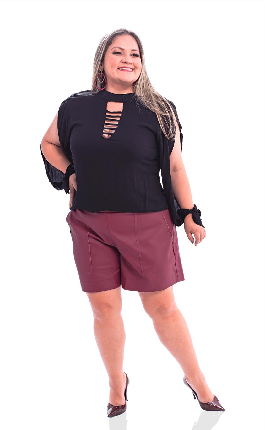 Shorts Plus Size Pellevino