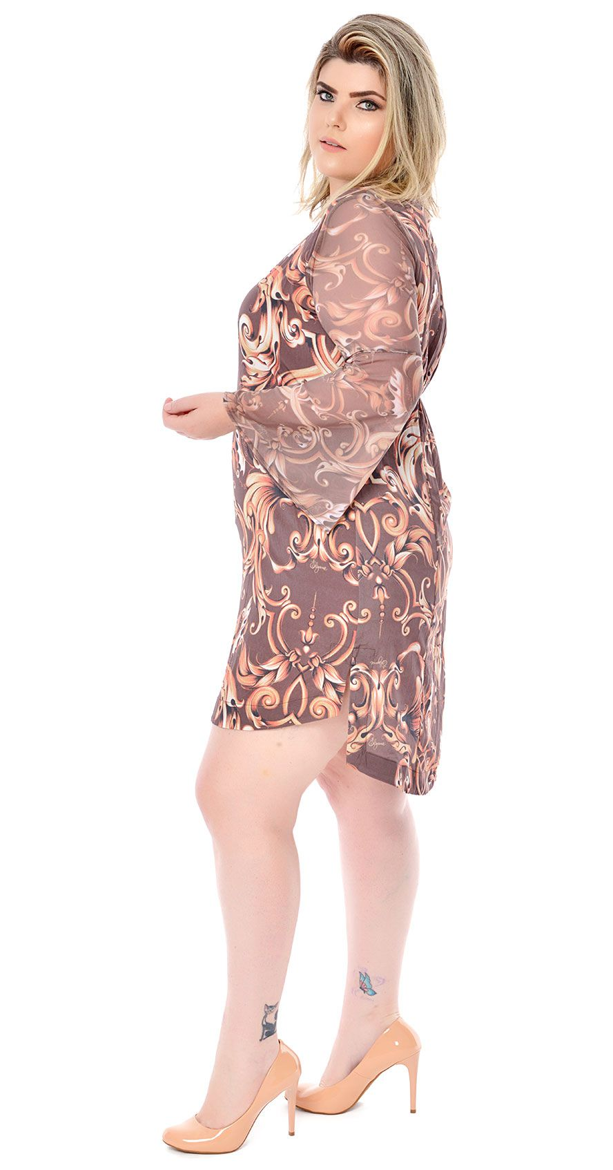 6a51ae86760 ... Vestido Plus Size Brauner