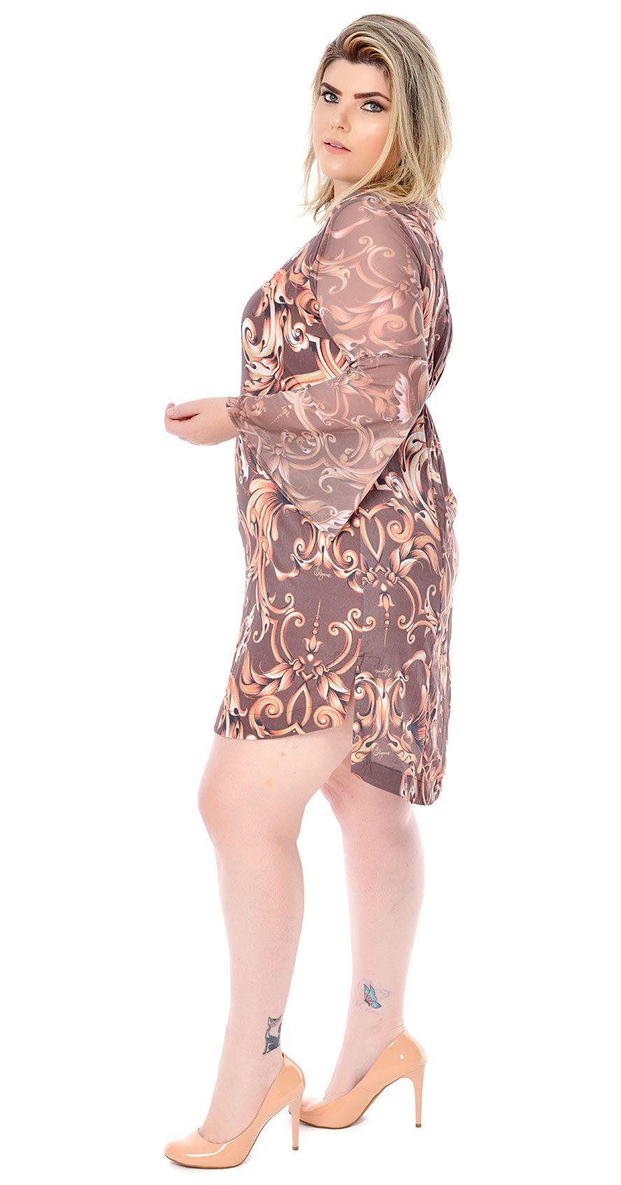 Vestido Plus Size Brauner