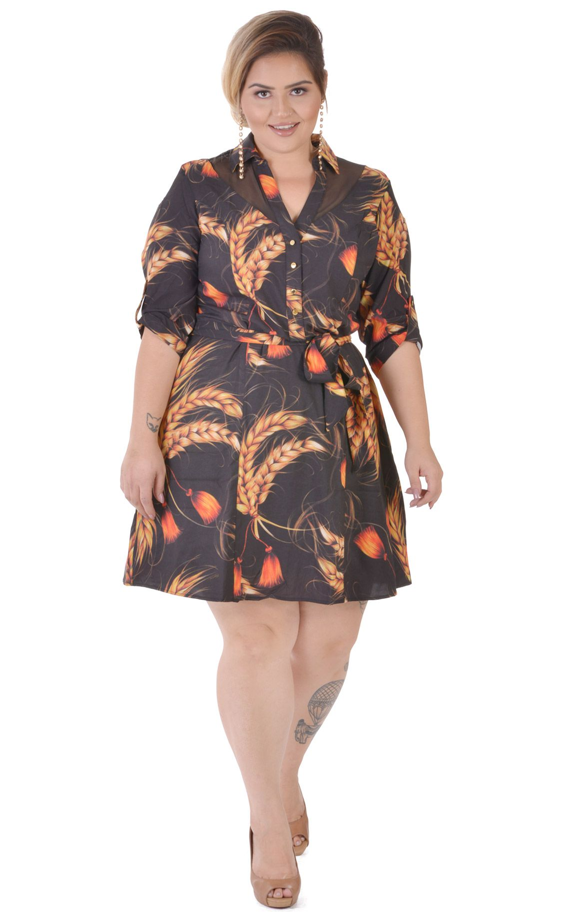 061ed7ece35 Vestido Plus Size Grano  Vestido Plus Size Grano ...
