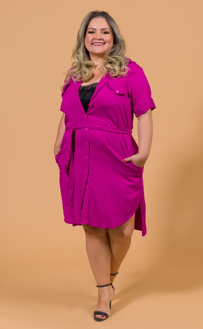 Vestido Chemise Plus Size Jasmine