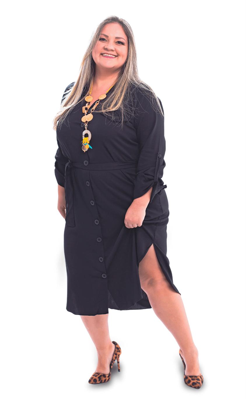 Vestido Chemise Plus Size Kleid