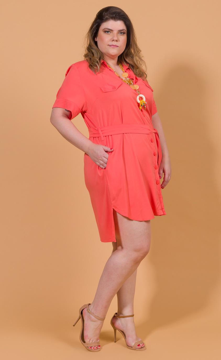 Vestido Chemise Plus Size Paint