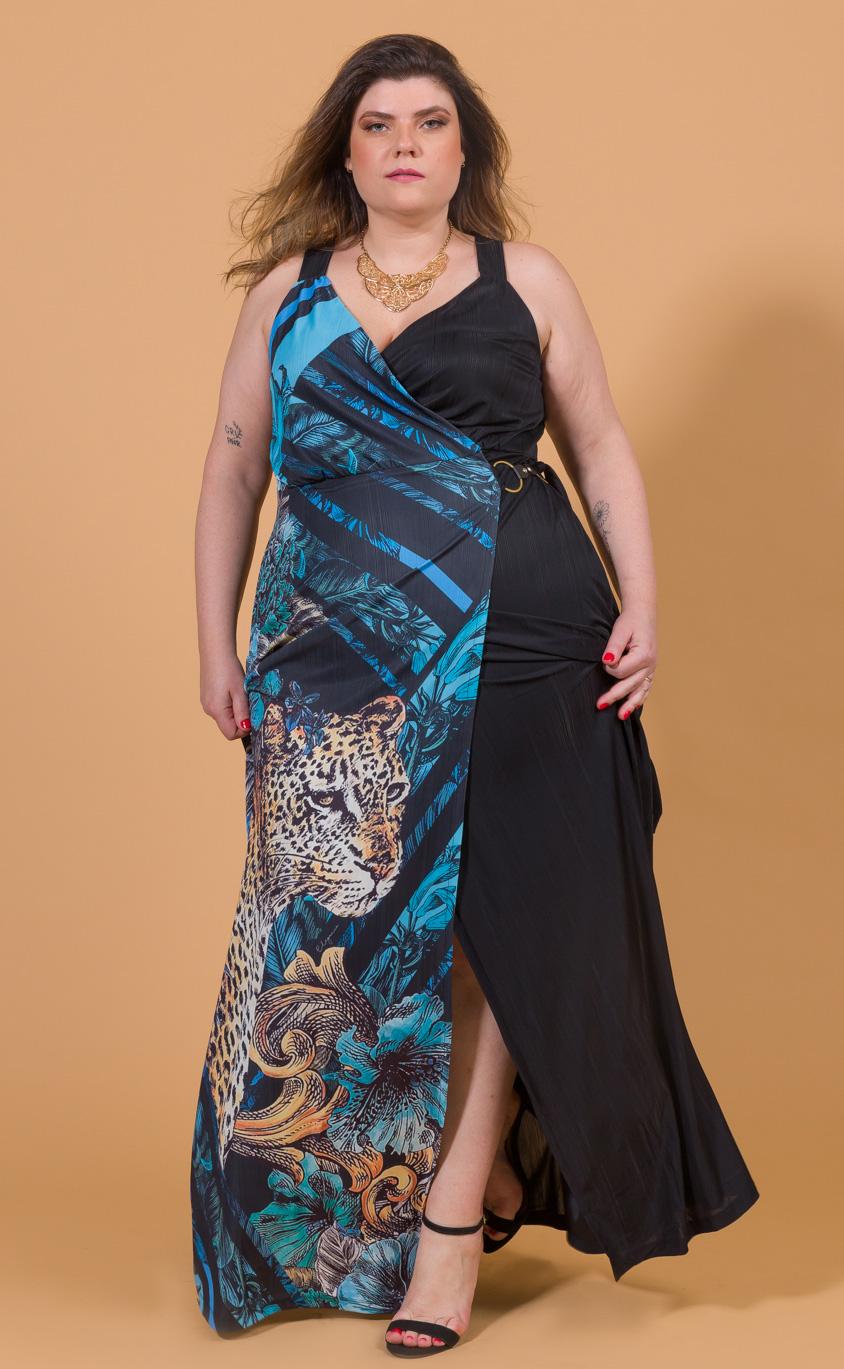 Vestido Longo Plus Size Iseda