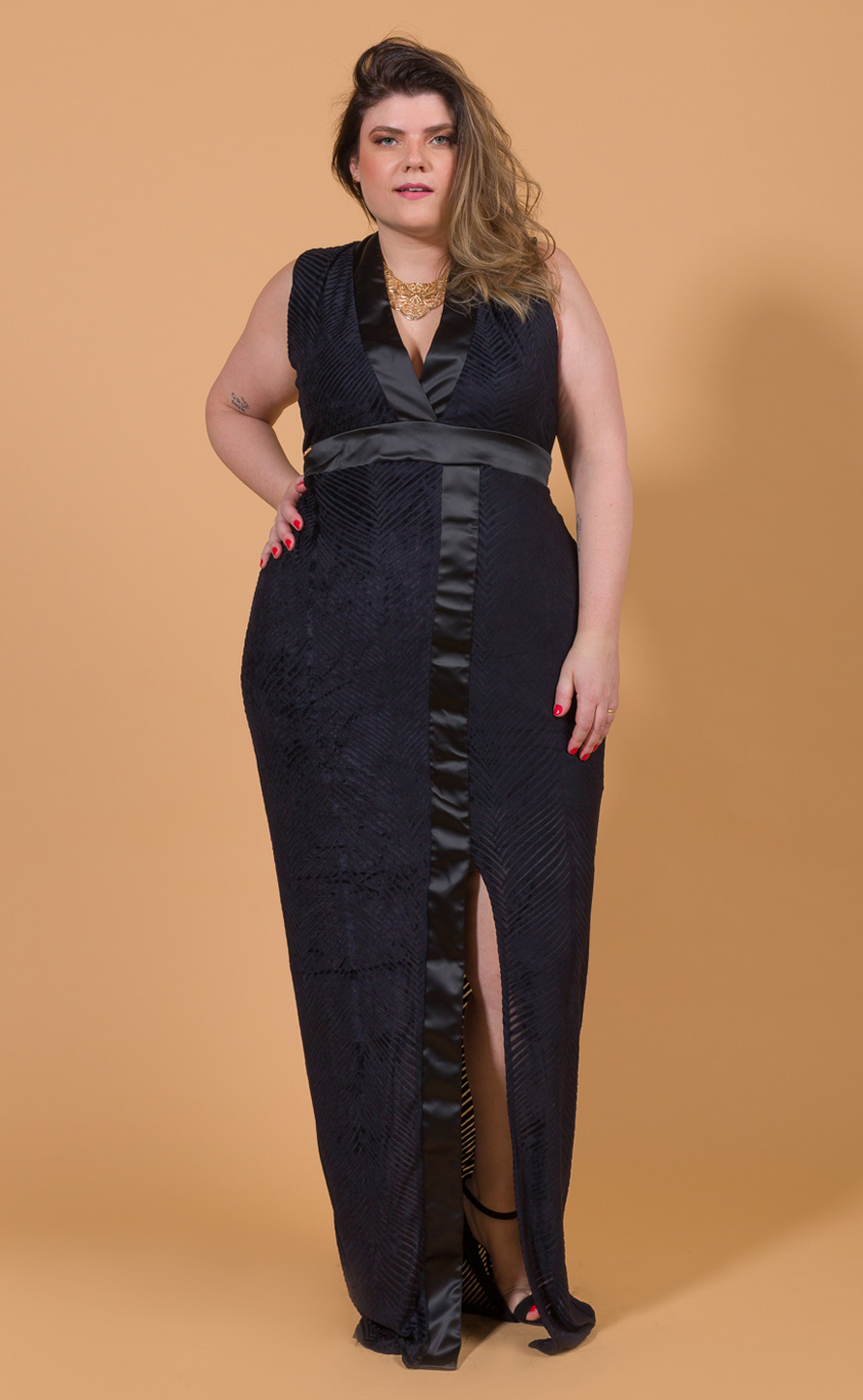 Vestido Longo Plus Size Lank