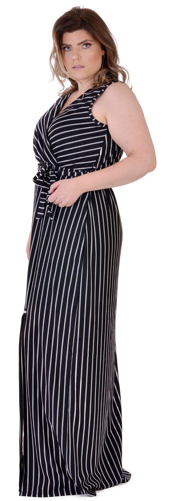 Vestido Longo Plus Size Lowcut