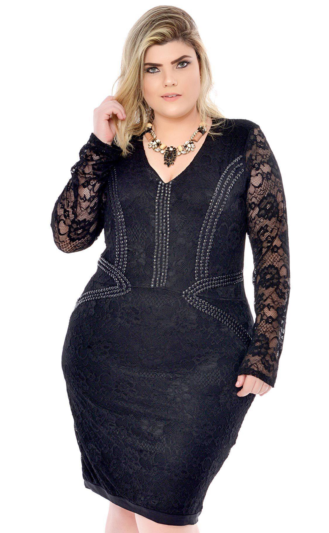 Vestido Plus Size Broderie
