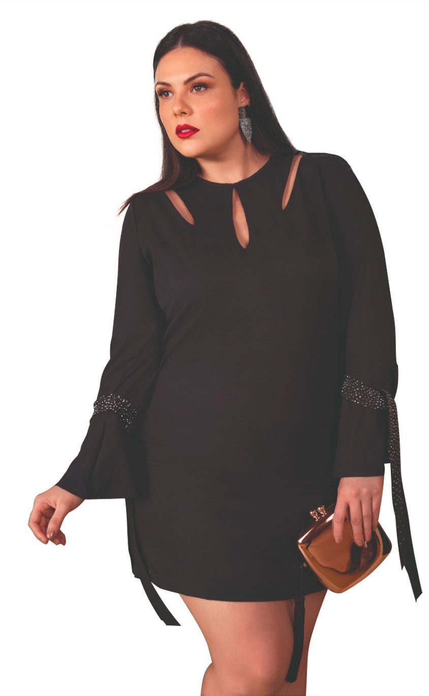 Vestido Plus Size Claret Black
