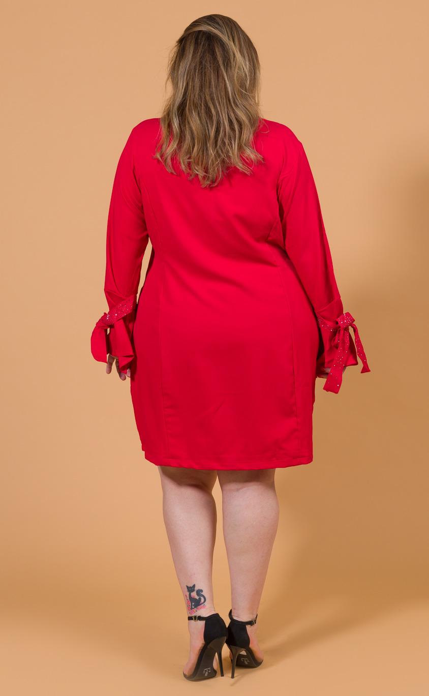Vestido Plus Size Claret Red