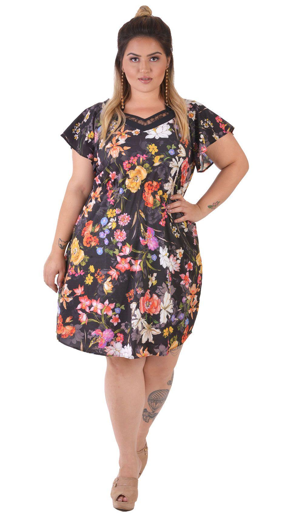 Vestido Plus Size Floreale