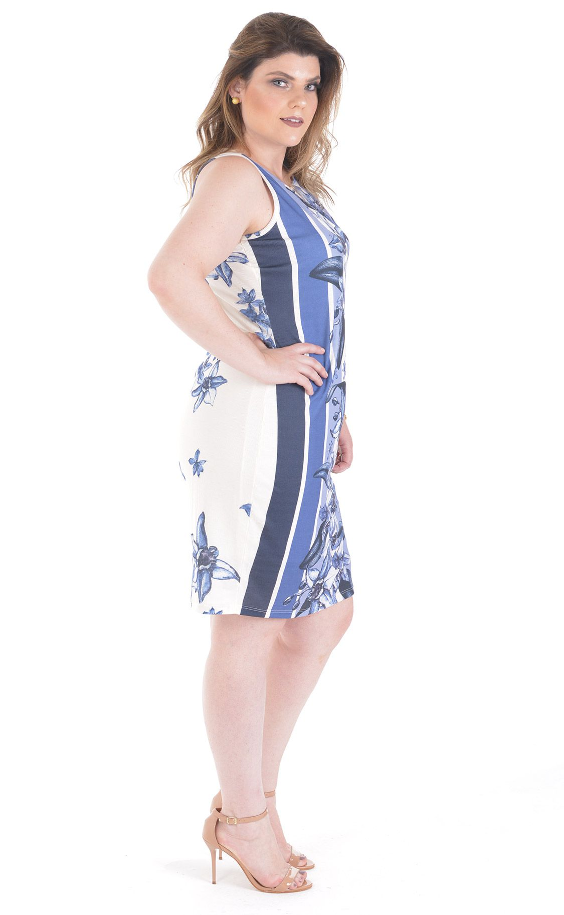 Vestido Plus Size Mesh