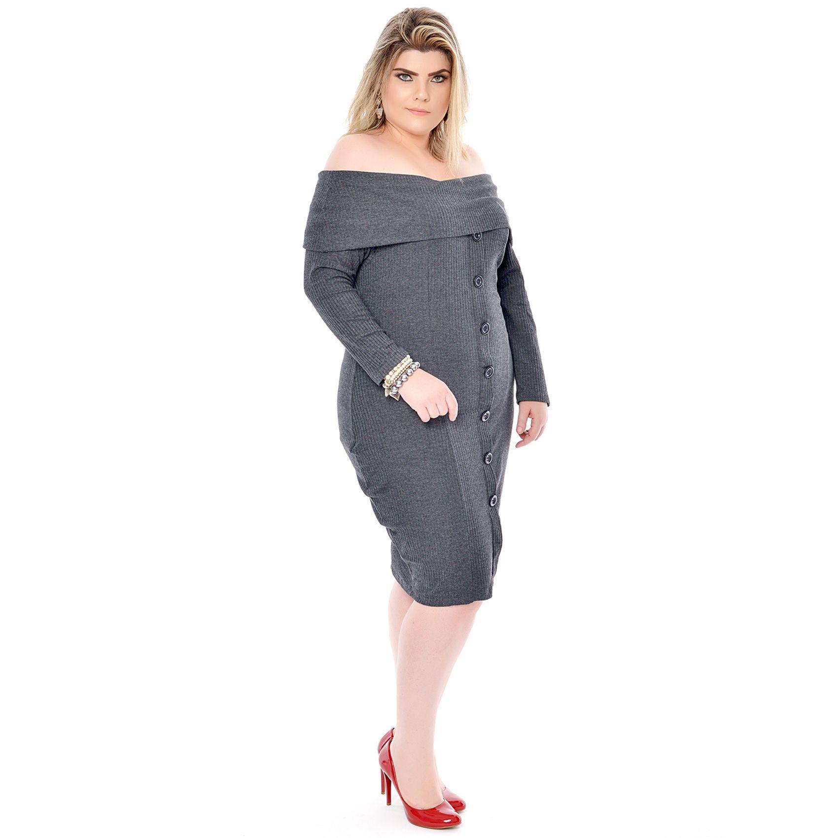Vestido Plus Size Spalla