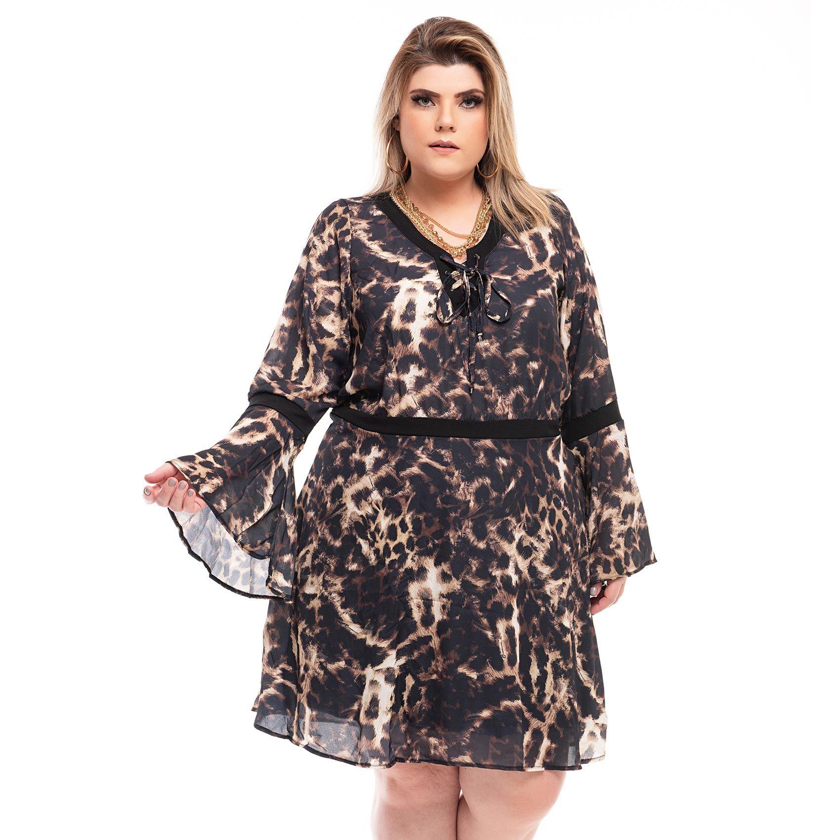 Vestido Plus Size Oncia
