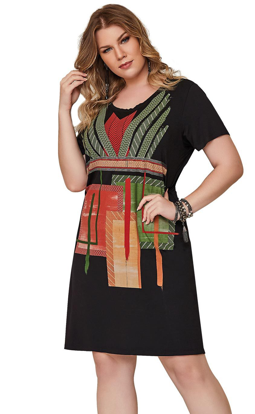 Vestido Plus Size Paint