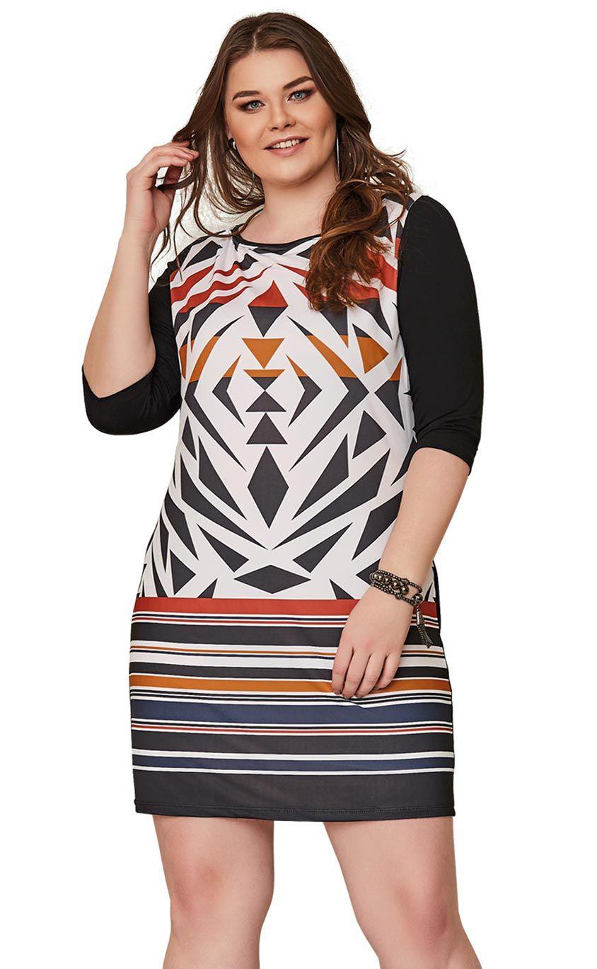 Vestido Plus Size Rayon