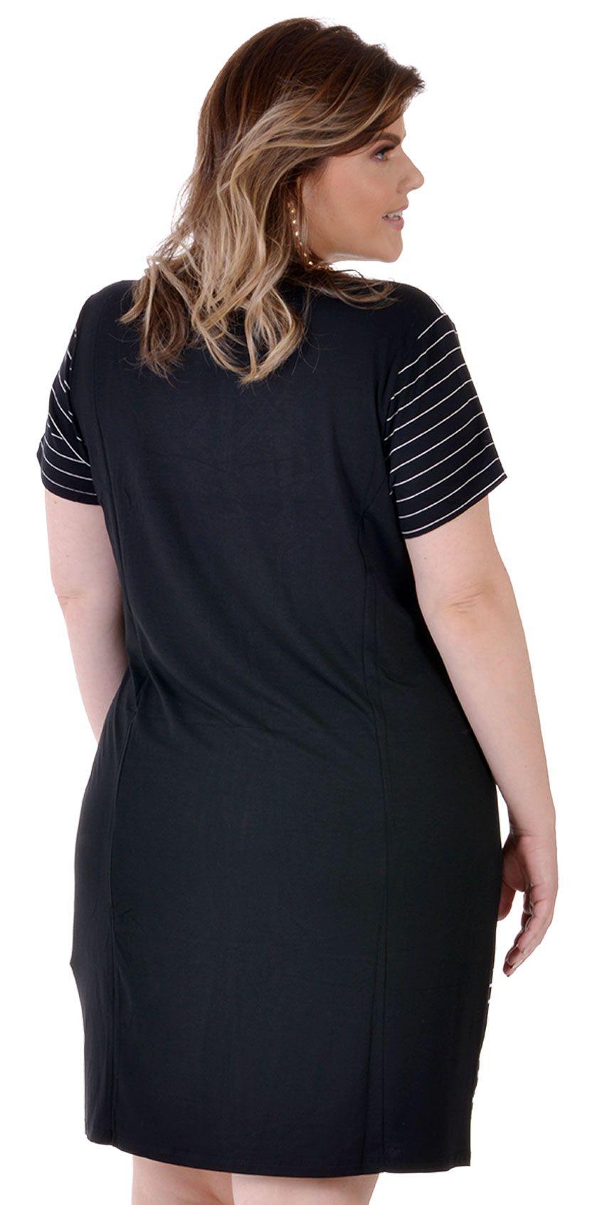 Vestido Plus Size Stamped