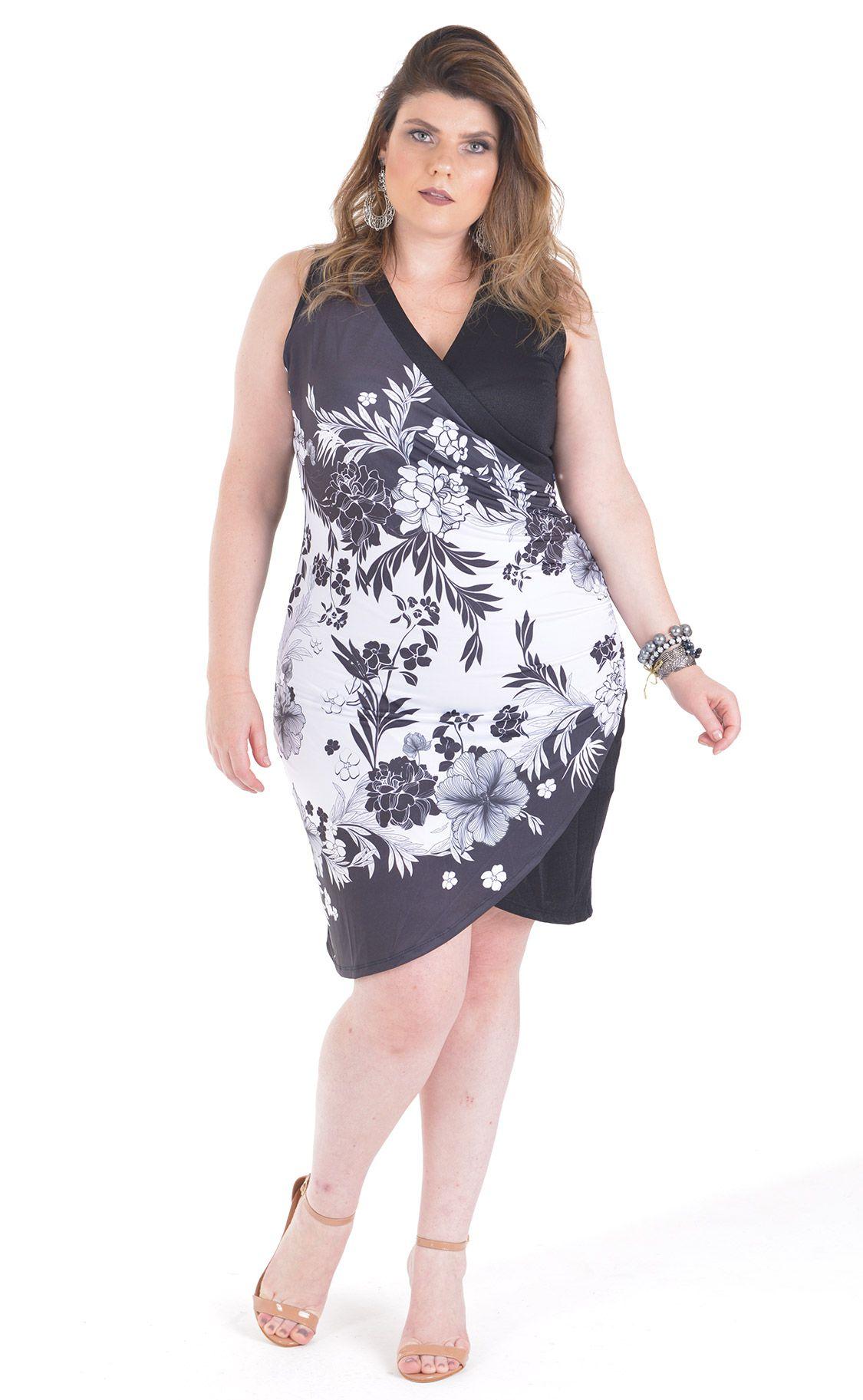 Vestido Plus Size Tied
