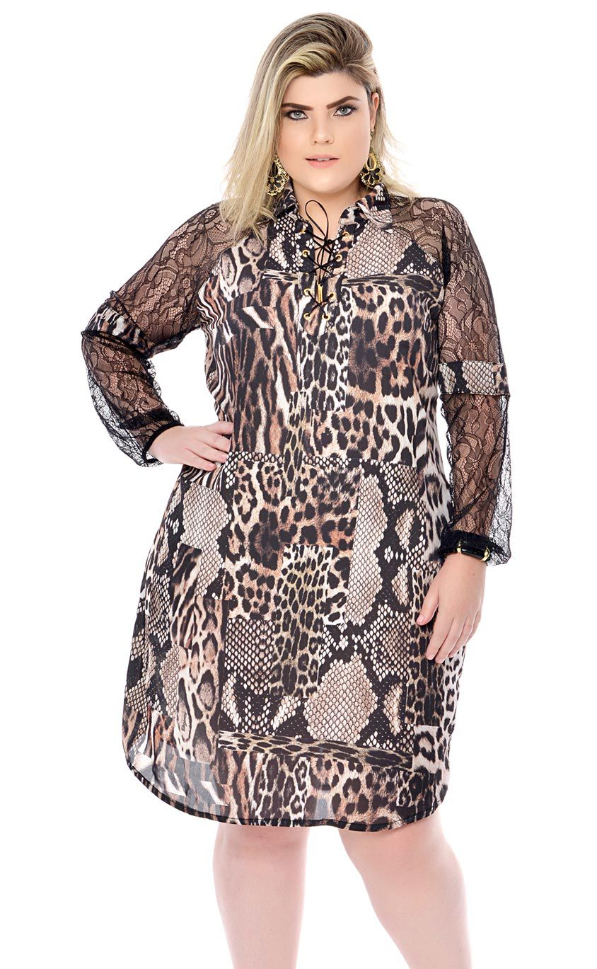 fae0a8434b0 Vestido Plus Size Unze - Morezi Plus ...