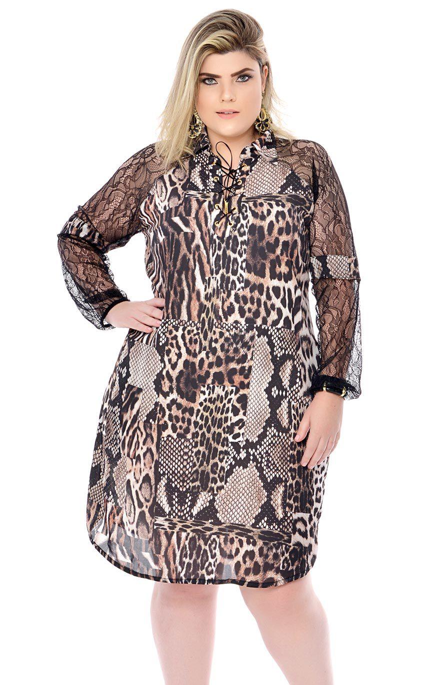 Vestido Plus Size Unze