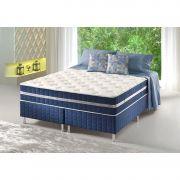 Conjunto Cama Box + Colchão Queen Anjo Star Premium com Espuma D33 158X198X67 Firme Azul Anjos