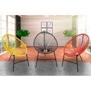 Conjunto 03 Cadeiras de Junco Sintético Área Varanda Caribe - MegaSul