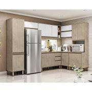 Cozinha Modulada Canto Completa Vicenza 7 Peças 306,6 x 167,7Cm MDP 15mm Sonora - MEGASUL