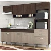 Cozinha Compacta Anita 09 Portas 02 Gavetas Forno Elétrico Microondas Cooktop Amêndoa/Decapê IRM