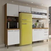 Cozinha Compacta Lara 4 Peças 246 Cm MDP/15mm Branco/Sinai - MEGASUL