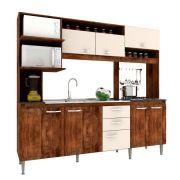 Cozinha Compacta Marília 08 Portas 02 Gavetas Itauba Crema - IRM
