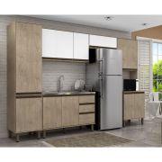Cozinha Modulada 5 Peças 319 Cm Alto Padrão Vicenza  MDP/15mm Sonora - MEGASUL