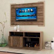 Kit Home Rack +  Painel Kansas para TV até 55' MDP Carvalho  -  Megasul