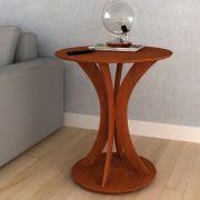 Mesa de Apoio MDF Redonda 65cm Imbuia - Megasul