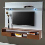 Painel de parede MDF para TV até 62' com 160cm Nicho e 02 gavetas Branco - MegaSul