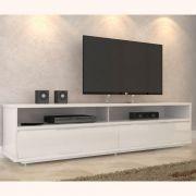 Rack Para TV MDF até 62' com 02 Gavetas 160cm Branco - Megasul