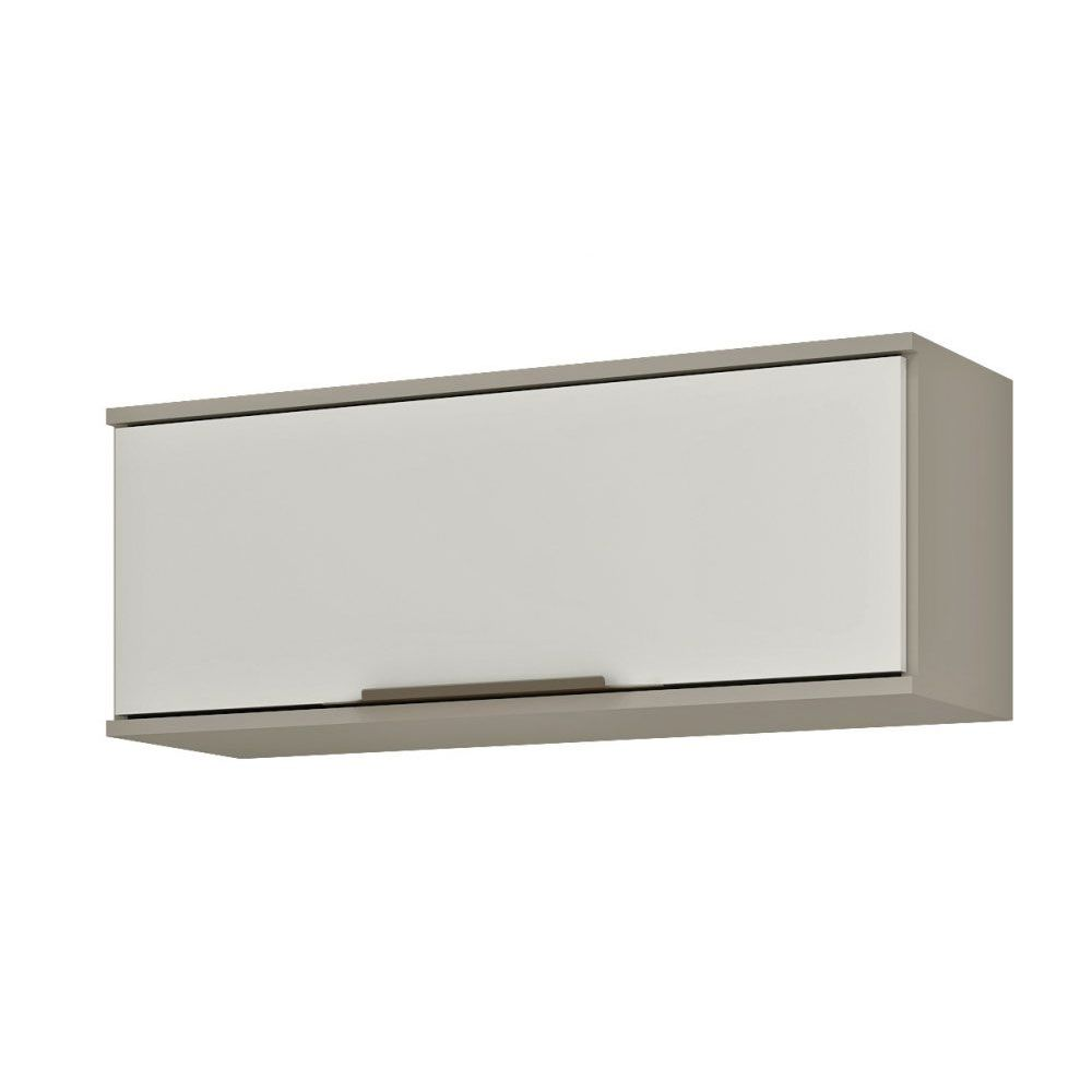 Aéreo Basculante Nicho 80cm AVE03 Taupe/Off White MDP 15mm Verace - Megasul