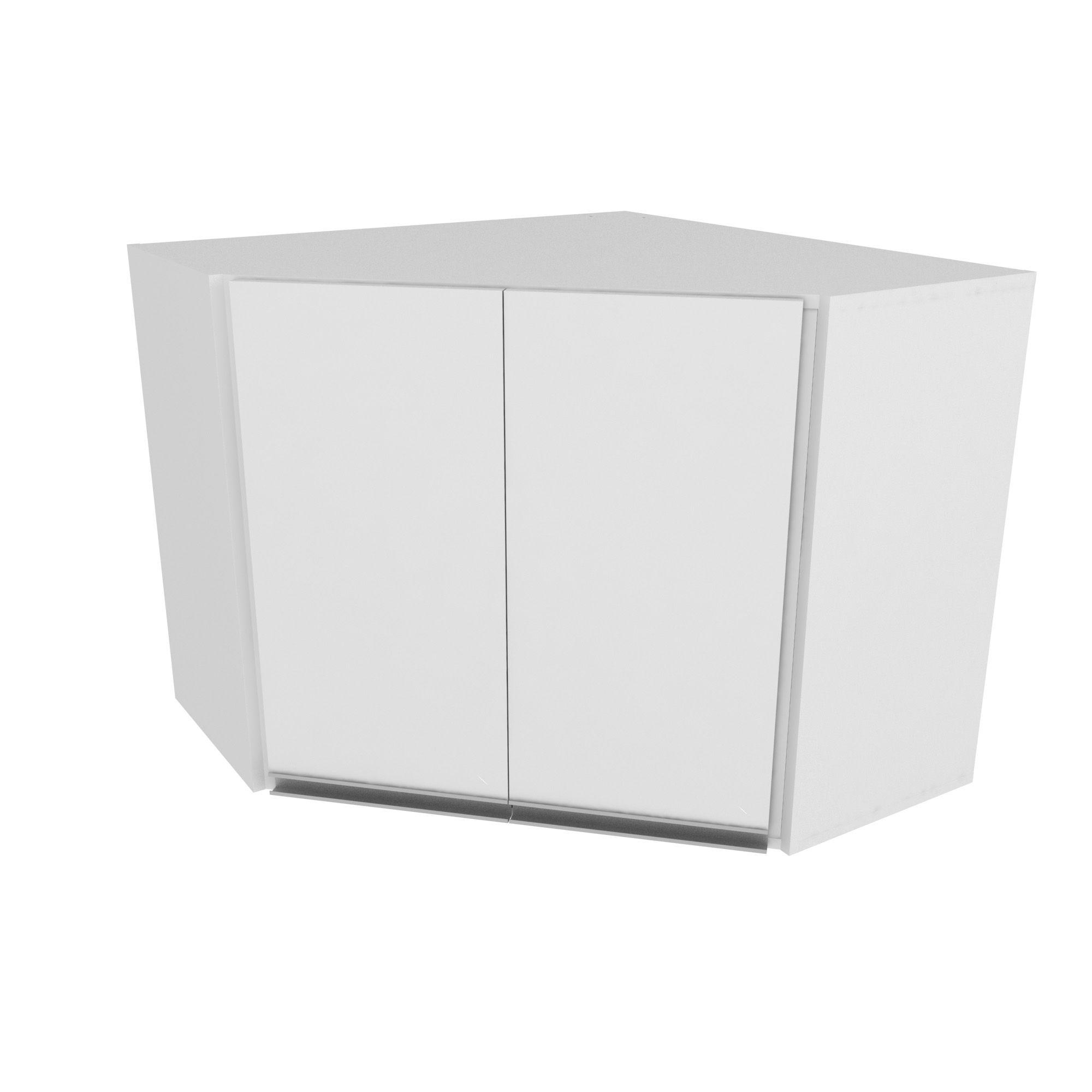 Armário Aéreo de Canto Aretha 2 Portas 1 Prateleira Branco -MegaSul