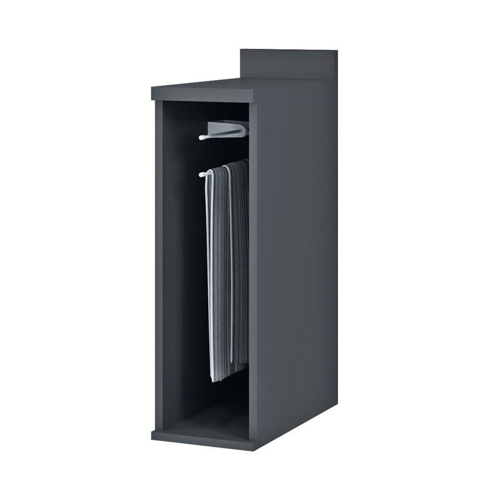 Balcão Toalheiro 20cm BVE01 Titânio/Taupe MDP 15mm Verace - Megasul