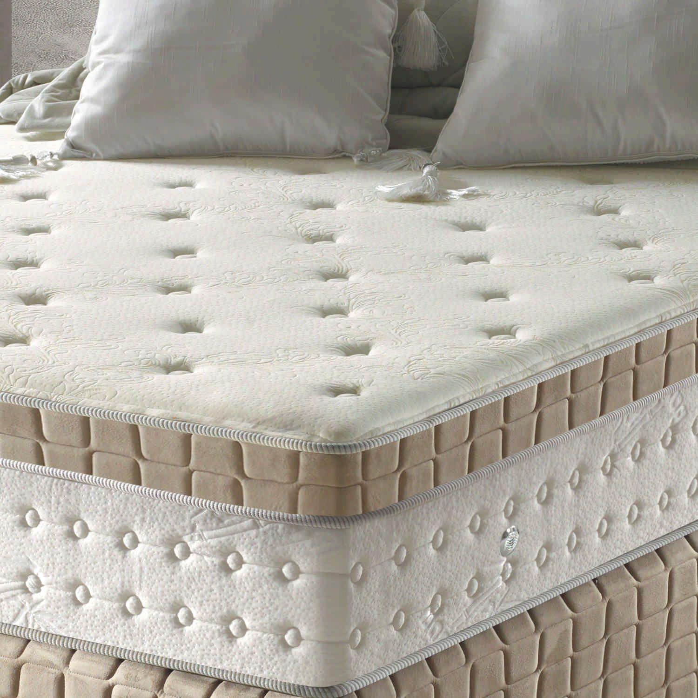 Conjunto Cama Box + Colchão King Supremo com Espuma D28 193x203x71 Macio Marfim/Bege/Branco Anjos