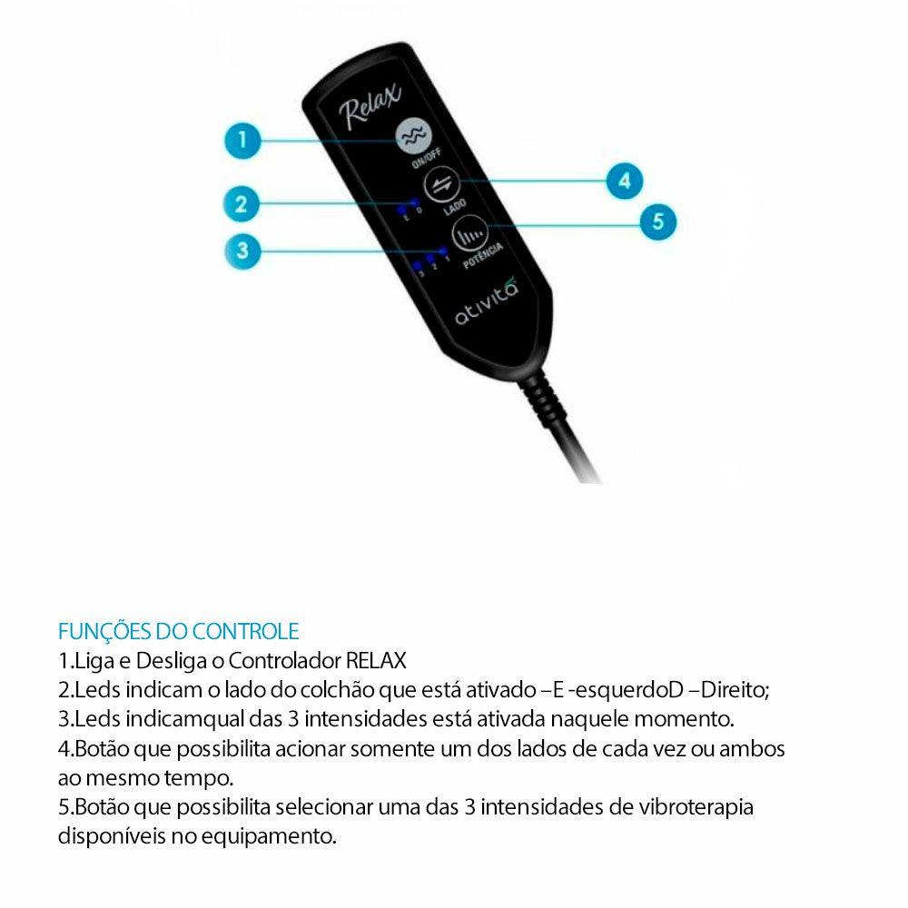Colchão Casal 138x188 Cm Magnético Vibromassageador infravermelho New Anjos - MEGASUL