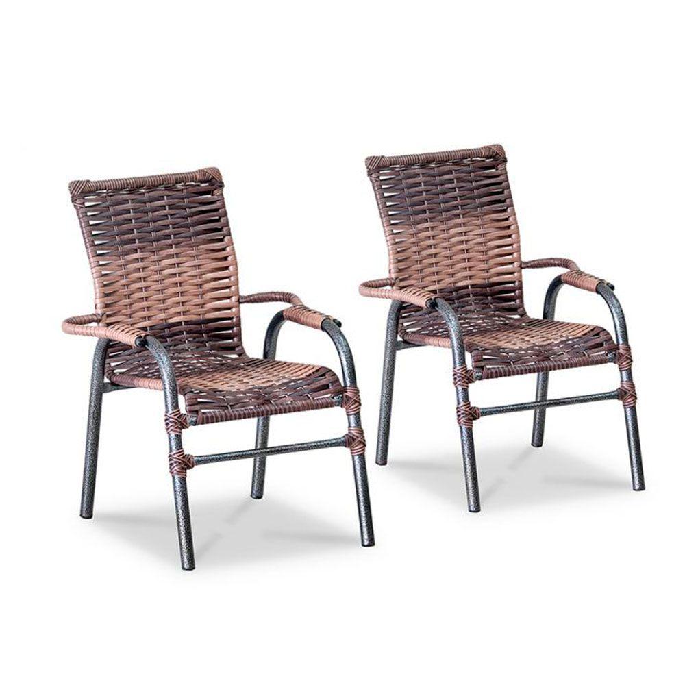 Conjunto 02 Cadeiras de Junco Sintético Área Varanda Bela Infantil - MegaSul