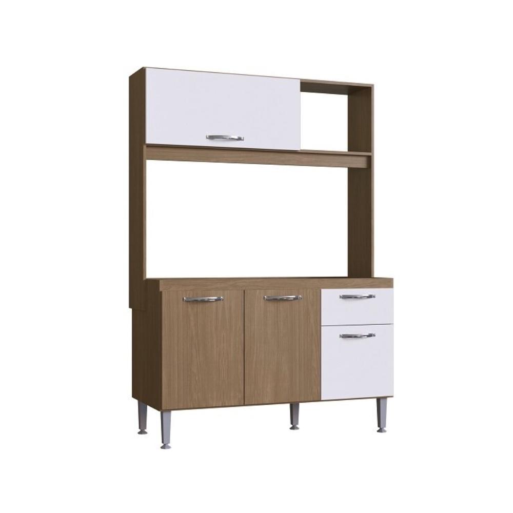 Cozinha Compacta Katy 04 Portas 01 Gaveta Amendoa Branco - Megasul