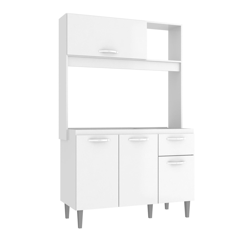 Cozinha Compacta Katy 04 Portas 01 Gaveta Branco - IRM