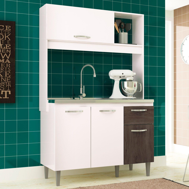 Cozinha Compacta Katy 04 Portas 01 Gaveta Branco/Malbec - IRM