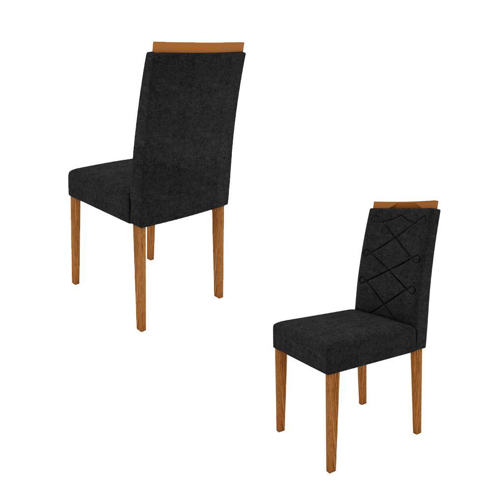 Kit 02 Cadeiras Caroline Para Sala de Jantar 99cm MDF - Megasul